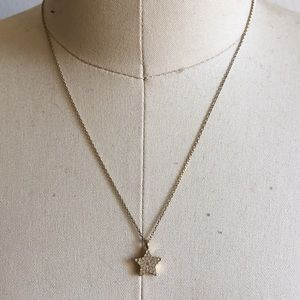 Fossil Gold Star Necklace